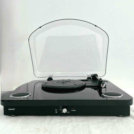 Gira-Discos 33/45/78RPM Vintage 5W Denver VPL-200 (Preto)