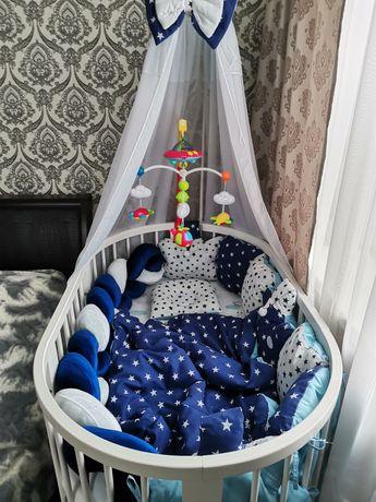 Круглая(овальная) кроватка для малыша