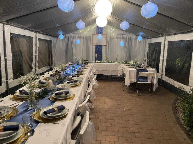 Namioty Wynajem Wypożyczalnia namiotów zastawy stołowej