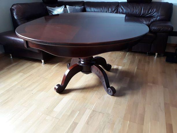 Stół, ława, 120/165cm. 100% drewniany. Piękny