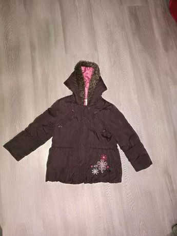 Ciepła jesienna kurtka dziewczęca 104/ 3-4l.