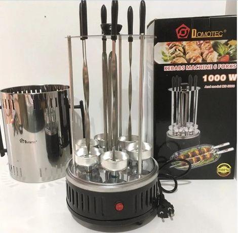 Электрошашлычница шашлычница Domotec BBQ на 6 шампуров, 1000Вт