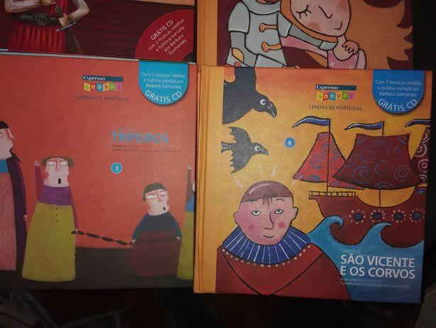 Lendas de Portugal livros com CD
