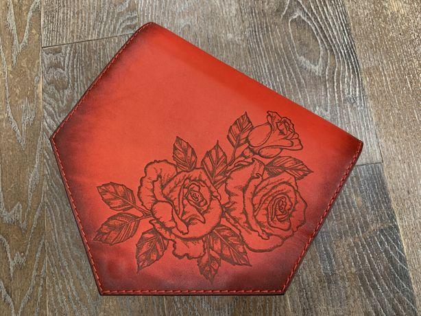 Женский кошелек, клатч ручной работы из натуральной кожи