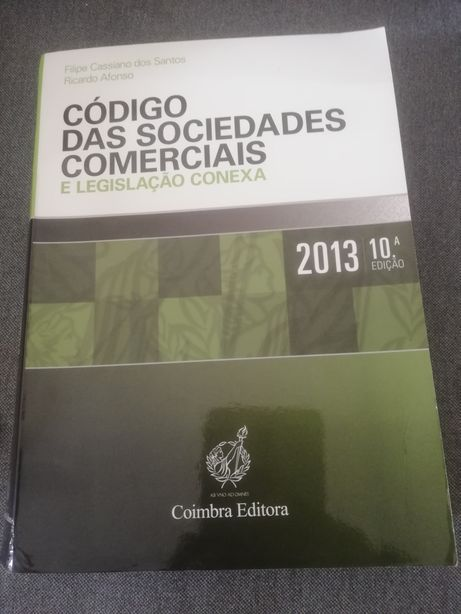 Livro Código das Sociedades Comerciais e Legislação Conexa