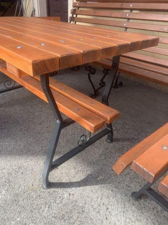 Noga do ławki stołu kuta malowana masywna POLSKA