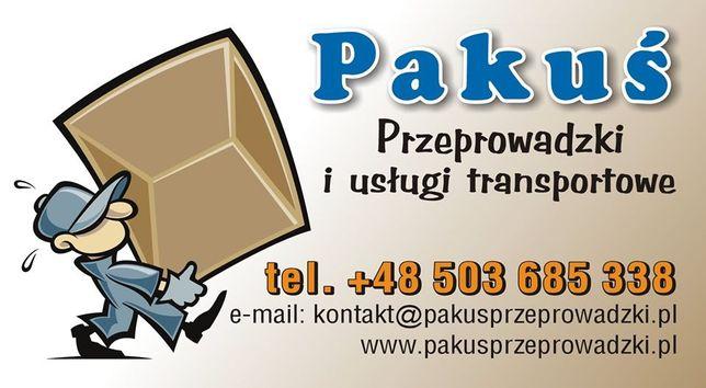 PAKUŚ Przeprowadzki/ Transport/ Opróżnianie mieszkań/ Utylizacja