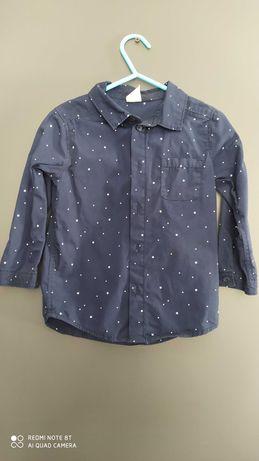 Koszula chłopięca z długim rękawem rozm. 92 H&M
