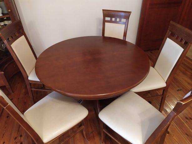 stół rozkładany wraz z krzesłami