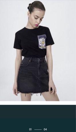 Джинсовая юбка черная SinSay