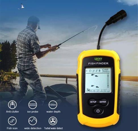 Sonda portátil para Pesca localiza peixes e informa profundidade 100m