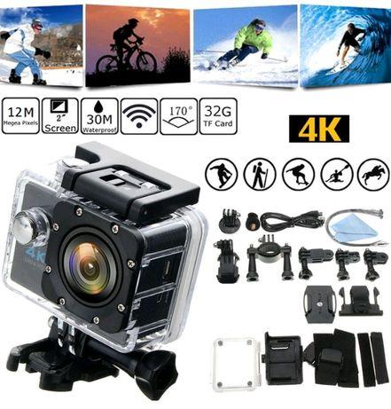 Экшн-камера Action Camera DVR SPORT S2 Wi Fi 4K + кейс + крепления