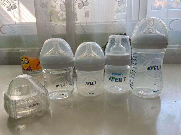 Бутылки Avent, новая и бу, новая соска