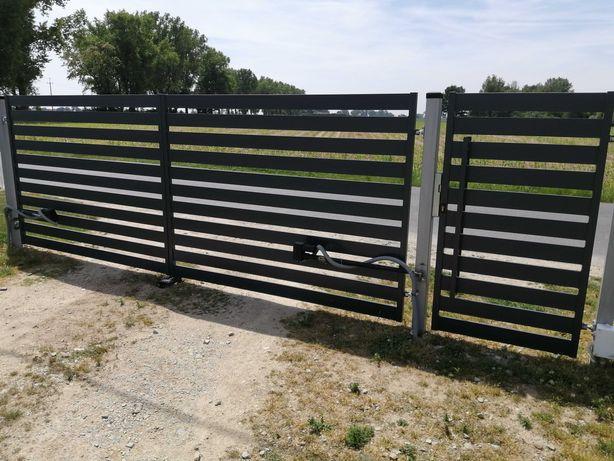 brama wjazdowa dwuskrzydłowa/ogrodzenia/balustrady/barierki