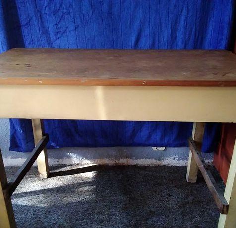 Stół warsztatowy kreślarski PRL Retro Vintage