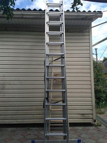Аренда алюминиевой лестницы 7.6метров CRAFT(Германия) 60 грн/сутки.