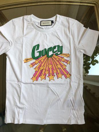 Футболка брендовая для девочек Gucci, Dolce&Gabbana, Roberto Cavalli