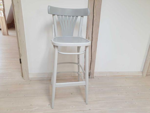 Krzesło a la Thonet barowe po renowacji szare gięte