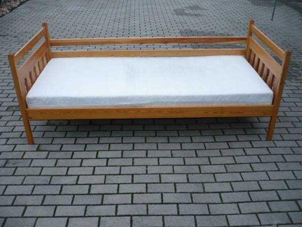 łóżko sosnowe 200x90 cm.masywne,możliwy transport