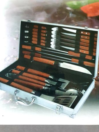 Sztućce grilowe Barbecue tool set 23 szt
