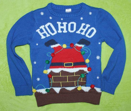 FF sweter r.110 na święta Mikołaj magiczny