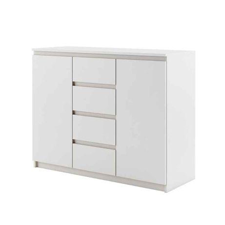 Komoda 110 cm biała z szufladami Szafka do Salonu Sypialni Dowóz 7 dni