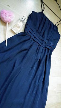 Шифоновое платье в пол, длинное вечернее платье на выпускной