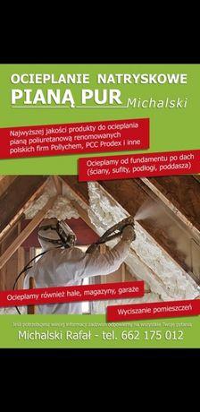 Ocieplanie PIANĄ PUR poddaszy dachów ścian sufitów od 48zł/m2