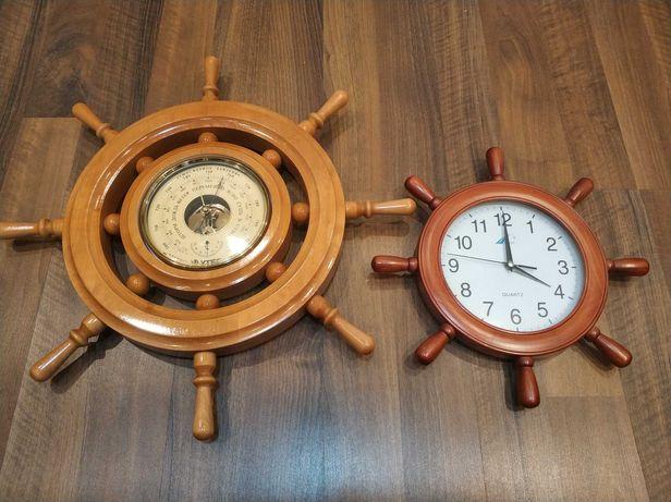 """Настенный барометр """"Утес"""" + часы"""