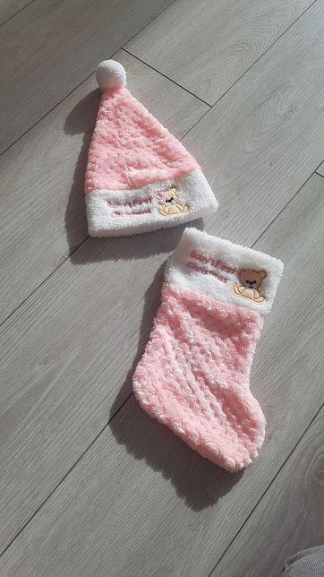 Подарочки подарок первый новый год шапочка под ёлку сапожек + подарок