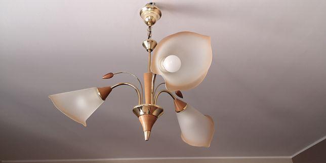 Lampa sufitowa żyrandol trzyramienny