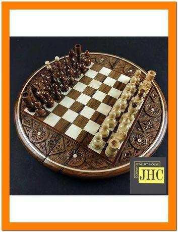 Шахматы деревянные ручной работы.