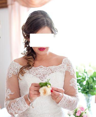 Suknia ślubna 38 40 hiszpanka welon halka bolerko