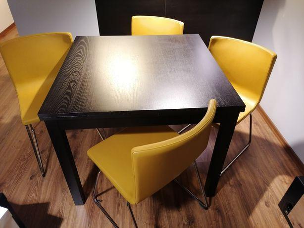 Ikea krzesło żółte skóra