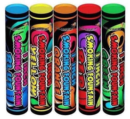 Цветной дым, набор 5 цветов, 60 сек, дымовые шашки, кольоровий дим