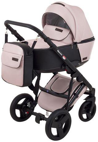 Стильна коляска трансформер 2в1  Bair Mirello Plus + ( Richmond ) рож