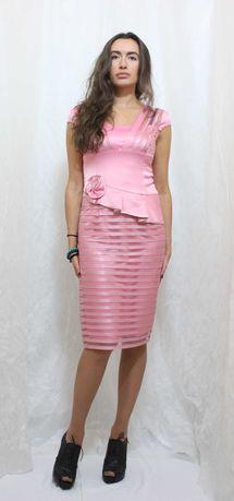 Нарядное розовое платье класса ЛЮКС , 44. Распродажа