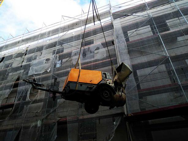 Aluguer de máquinas para betonilhas com compressor e Cuba XL 270L
