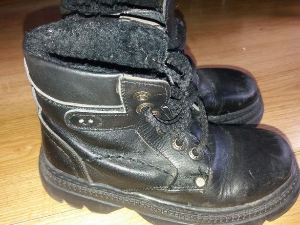 Ботинки детские зимние Кожа+искусственный мех р.31 по стельке 18.5 см