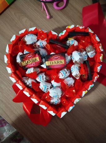 Валентинка з солодощів