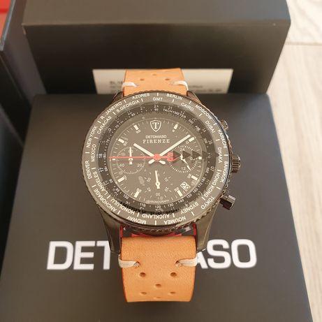 Zegarek męski Detomaso Firenze Chronograph Black SII VD53 NOWY