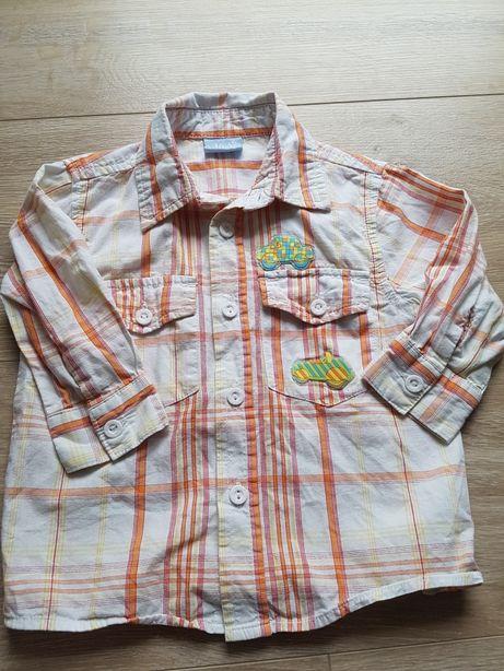Koszula na długi rękaw w kratkę r 74, 5.10.15