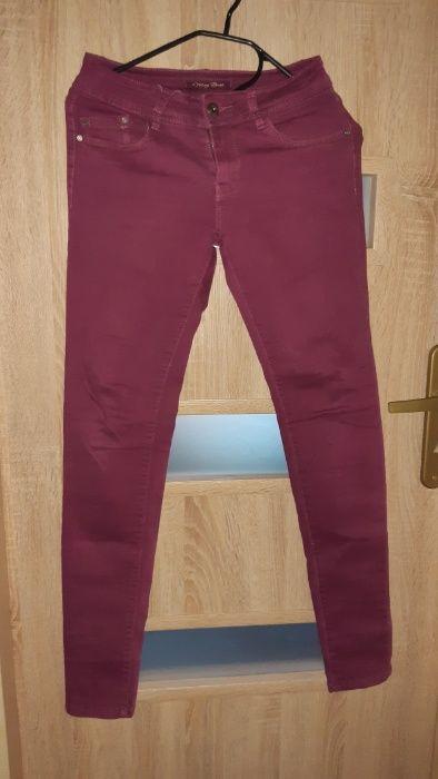 Bordowe spodnie rurki Dzierżoniów - image 1