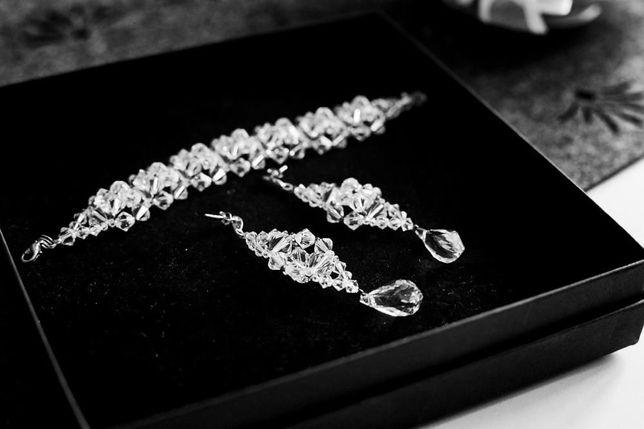 Komplet swarovskiego biżuteria ślubna