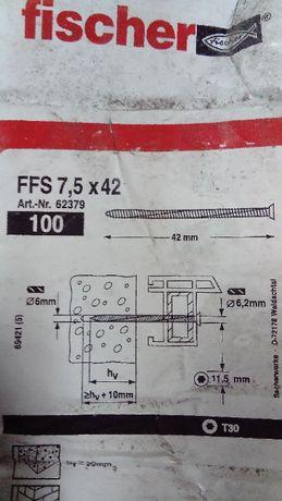 Wkręt do ram okiennych Fischer FFS 7,5x 120 NOWY