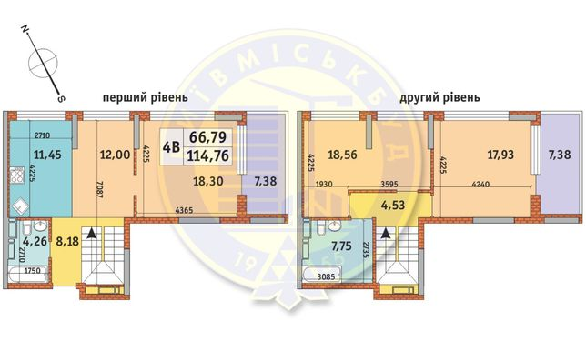 4-комнатная квартира 114.76 м2. Урловский-1 КиевГорСтрой