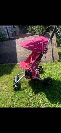 Spacerówka dla dziewczynki różowa.