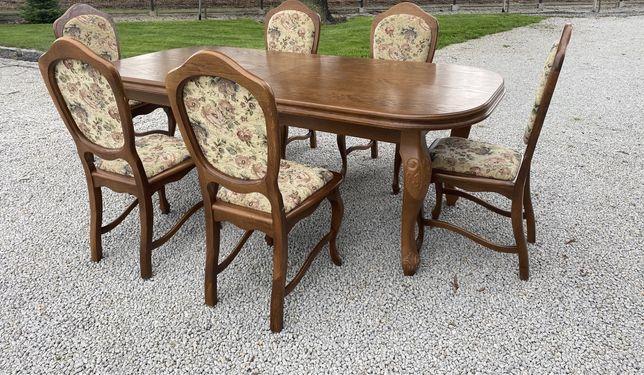 Zestaw mebli do salonu Ludwik  stół + krzesła