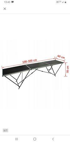 Składany stół do tapetowania 3m, MDF i alumnium,