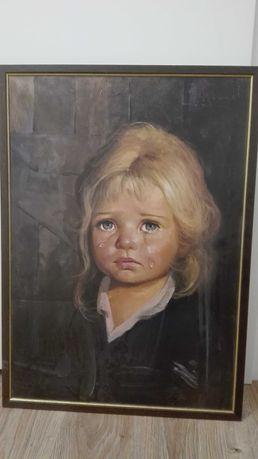 Obraz płacząca dziewczynka